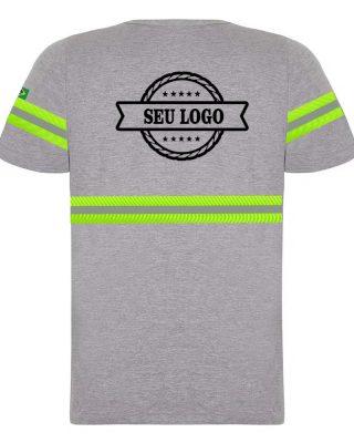 Camiseta com faixas refletivas para uniformes profissionais personalizada com sublimação kit 10 pçs