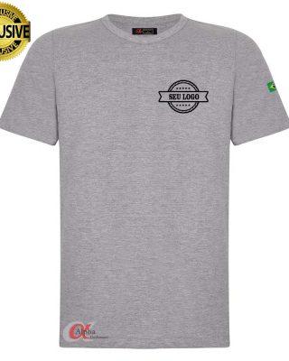 Camiseta básica cinza mescla Personalizada kit 10 pçs