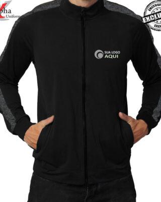 Blusão de frio com zíper personalizada Helanca Soft kit 4 pçs