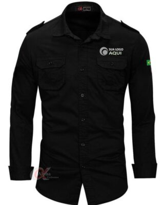 Camisa com logotipo work shirt masculina e/ou feminina personalizada – 4 pçs