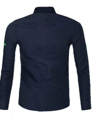Camisa social manga longa personalizada para uniformes- 4 pçs