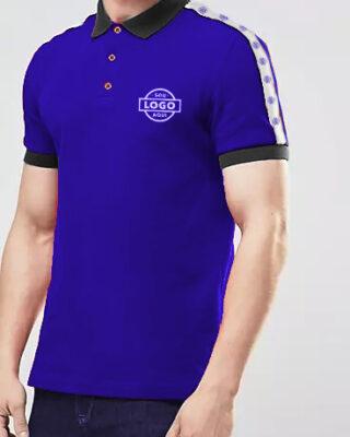 Camisa com faixa personalizada nos ombros gola polo para uniformes kit 4 pçs