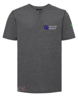 Camiseta com botões em malha antipilling e com proteção UV personalizada kit 10 pçs