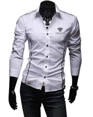 Camisa Social manga longa Slim fit franquia Premyer – kit 4 pçs