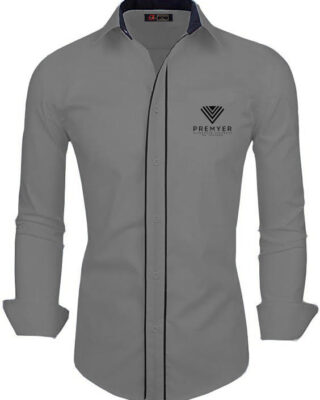 Camisa Social manga longa com frisos franquia Premyer – kit 4 pçs