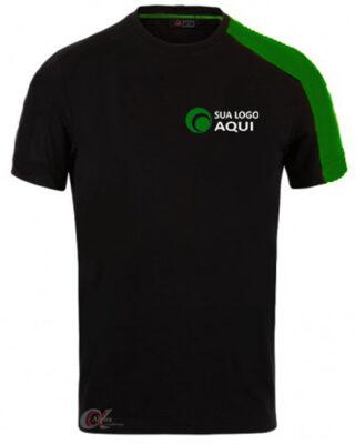 Camiseta com faixa nos ombros personalizada pela Alpha Uniformes kit 10 pçs