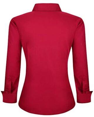 Camisa feminina personalizada colarinho interno em Poá kit 4 pçs